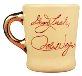 john wayne good luck mug