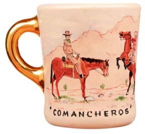 john wayne mug for the comancheros