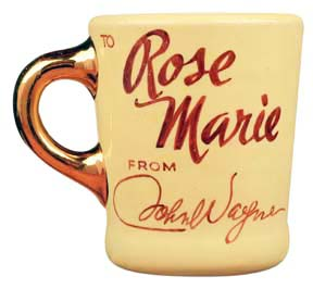 john wayne mug given to rose marie