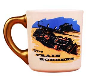 john wayne mug for the train robbers