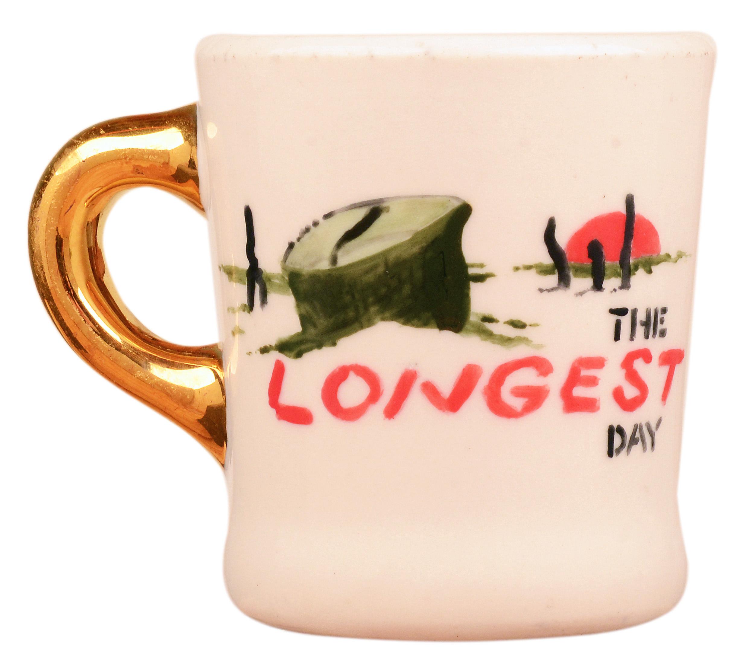 John Wayne mug for the 1962 movie The Longest Day, front.