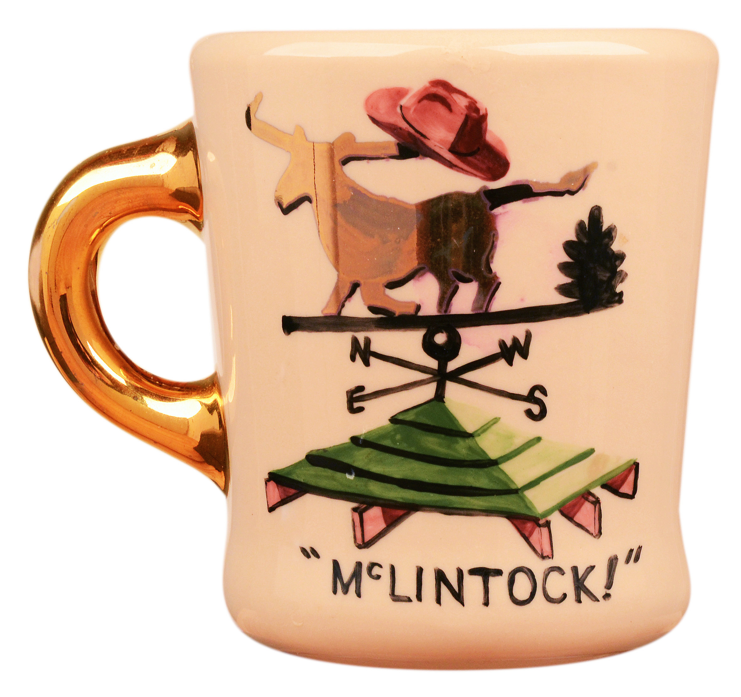 John Wayne mug for the 1963 movie McLintock, front.