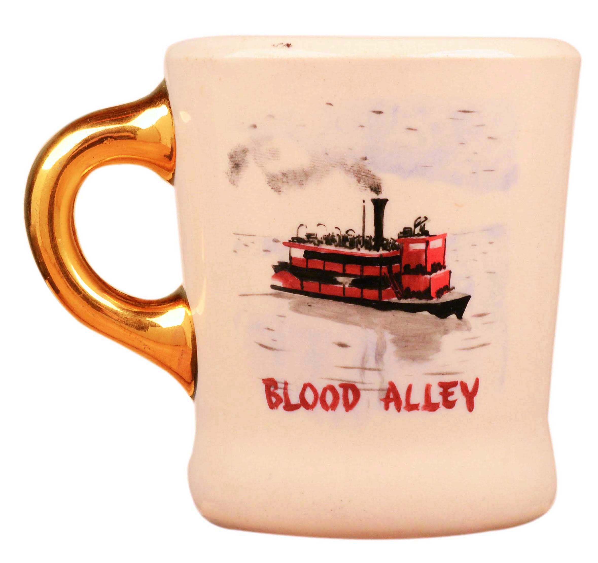 John Wayne mug for the 1955 movie Blood Alley, front.