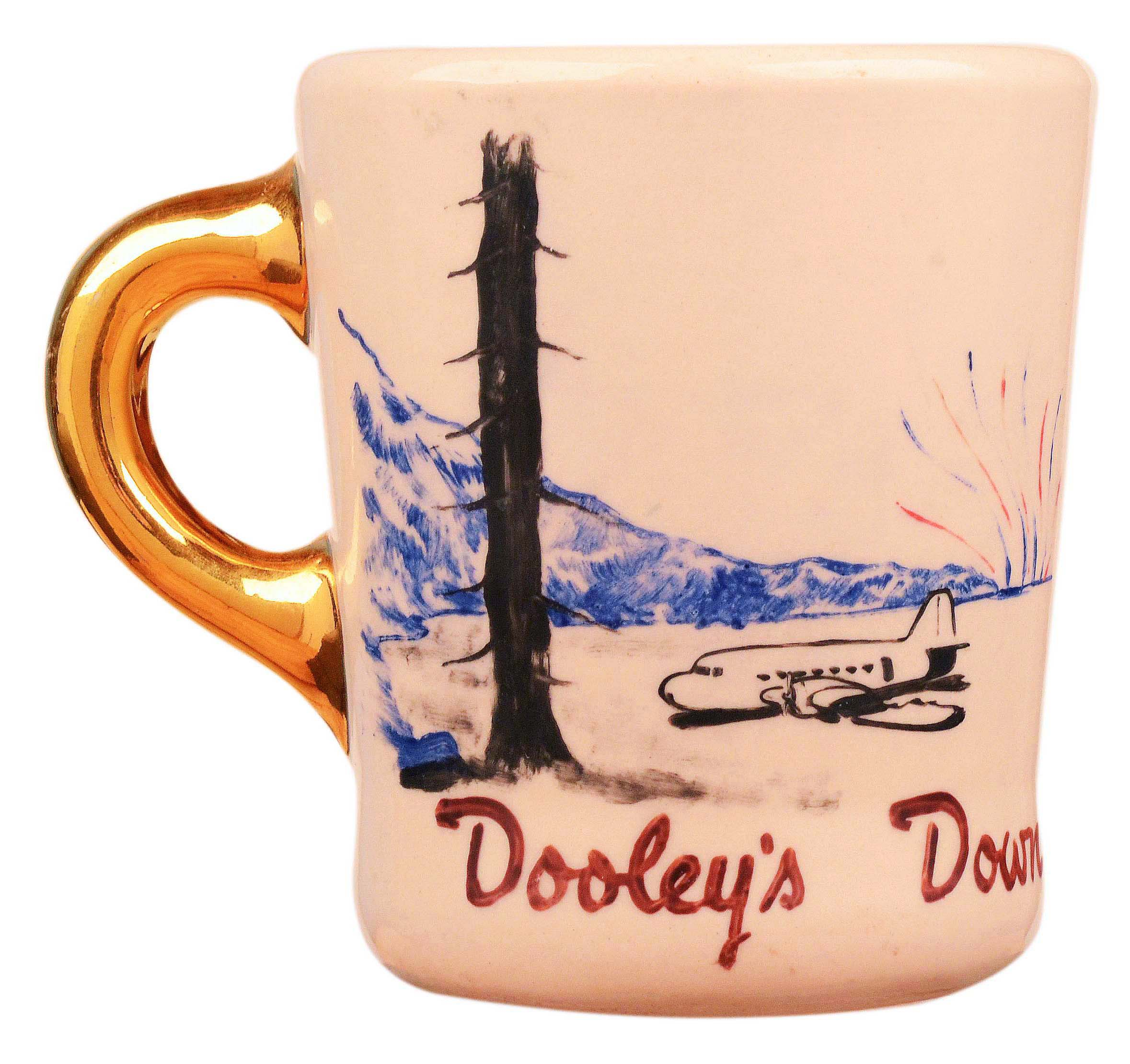 John Wayne mug for the 1953 movie Island in the Sky, front.